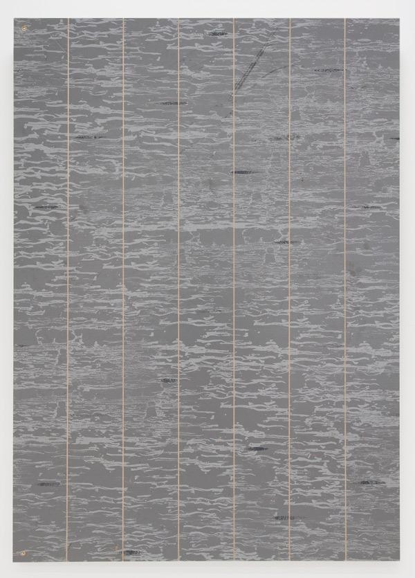 olve-sande-StillerStrikePainting_acrylics_on_stage-floor_timber-frame_140x100